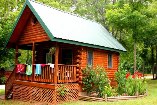 Ozark Outdoors Riverfront Resort Country Log Cabin