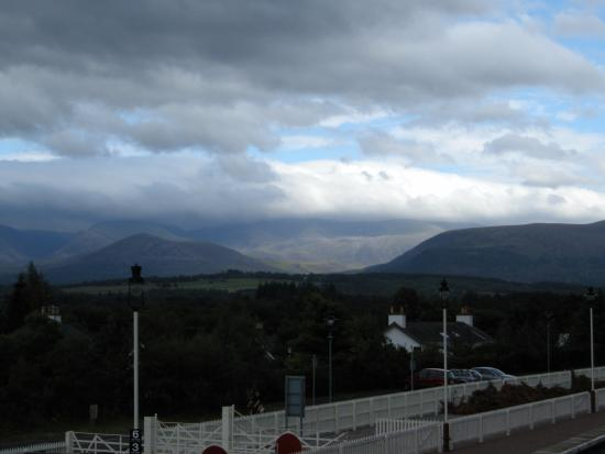Aviemore and the Cairngorms, UK: View of the Cairngorms from Aviemore train station