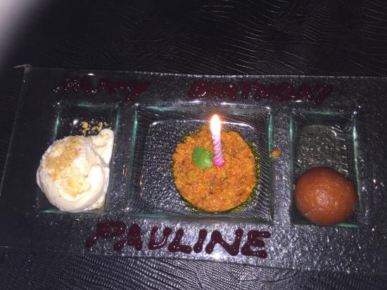 Infinity Restaurant: carrot pudding, gulabjamun and ice cream