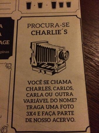 cardápio - Foto de Charlie s Pub e7437ae0d0f