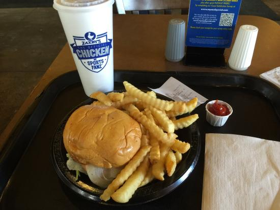 Chicken Finger Sandwich Combo Picture Of Zaxbys Gainesville