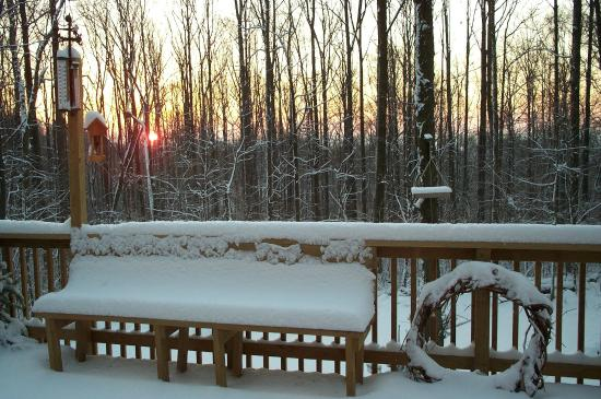 Furnace Hills Bed and Breakfast: Sunrise over the snow