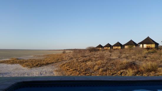 Onkoshi Camp: vue sur les bugalows