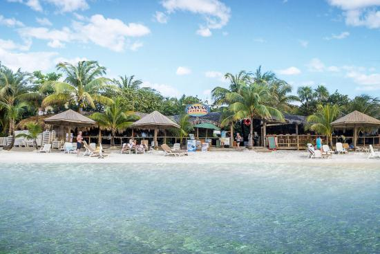 Cayuco Beach Bar From West Bay Roatan View Ocean