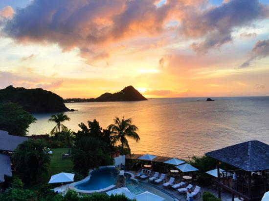 Cap Estate, St. Lucia: VIew from a suite's rooftop