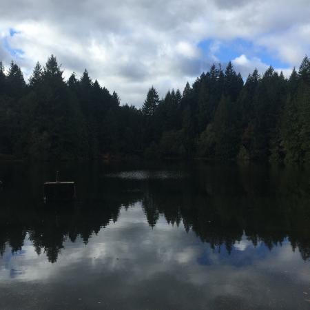 Вид на озеро при входе в парк со стороны Nanaimo-Lakes Rd