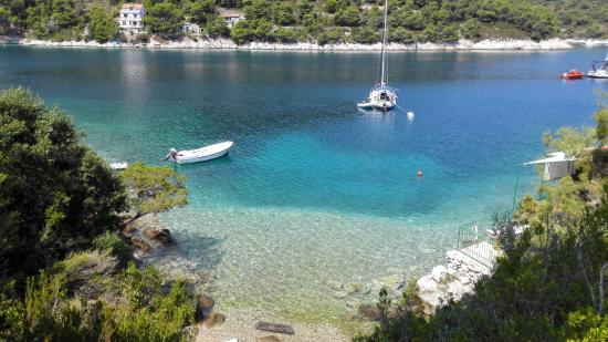 Island of Vis, Kroatien: Sehr schöner Strand Stoncica 5 Min mit dem Auto von der Fewo entfernt