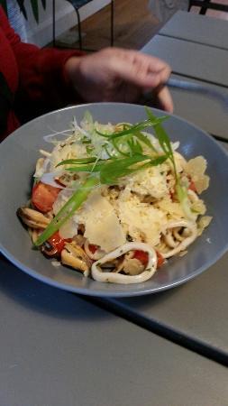 Spaghetti Marinara and chicken and pumpkin risotto: just brilliant!