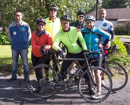 Amity Tours: Our bike trip group in Pucon