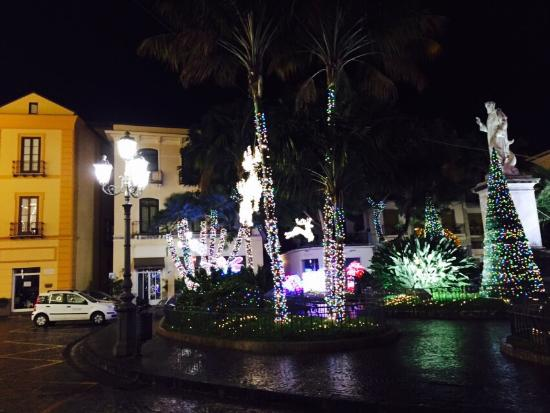 christmas lights outside the hotel picture of la piazzetta guest house sorrento tripadvisor