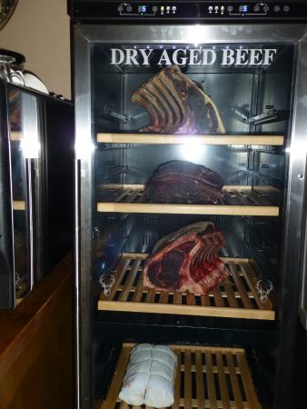 Buxted, UK: Beef ready for Steak Night!