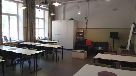 Hostel Suomenlinna : 朝食用の食堂兼コモンルーム