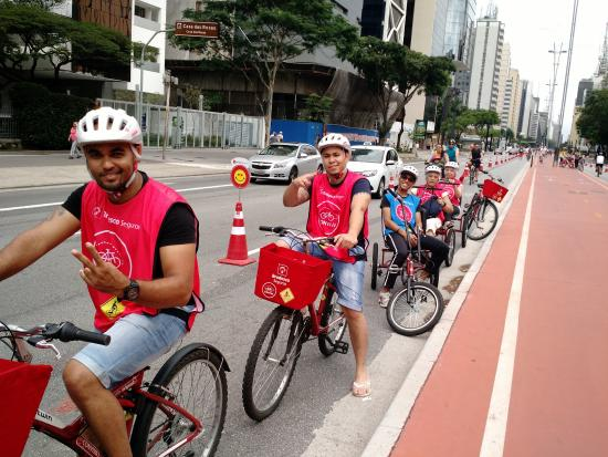 Leisure Bike Lane of the city of Sao Paulo: :D