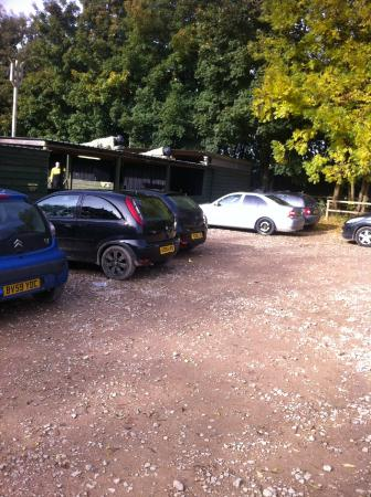 Delta Force Paintball Coventry: Car park view