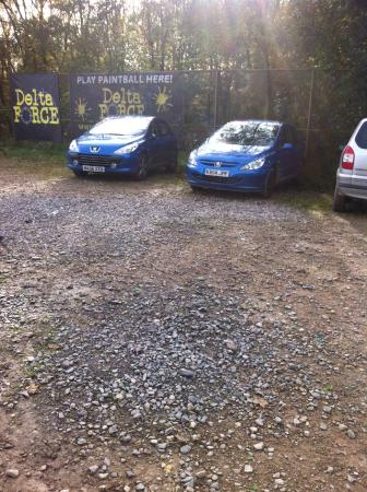 Delta Force Paintball: Both the blue cars were broken into