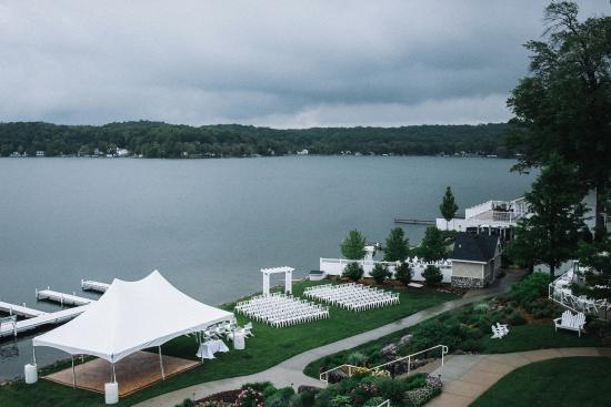 Shelbyville, MI: View of our ceremony from room's balcony