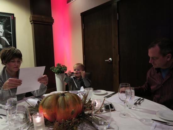10 Below Restaurant & Lounge: backroom seating :(