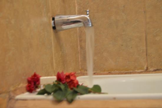 Hosteria Hacienda San Francisco: Baño en la tina de agua caliente