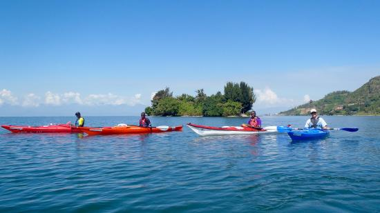 'Sea' Kayaking on Lake Kivu near Gisenyi