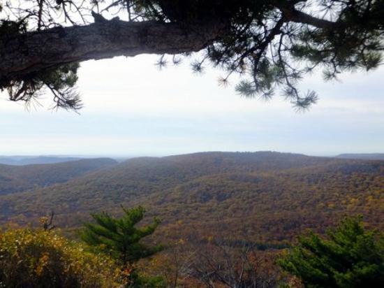 Bear Mountain, uitzicht bovenop de rots
