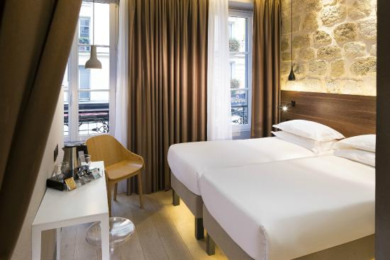 chambre twin - twin room - picture of cler hotel, paris - tripadvisor