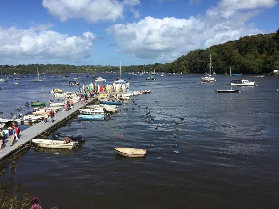Dittisham, UK: View from the Anchorstone Cafe