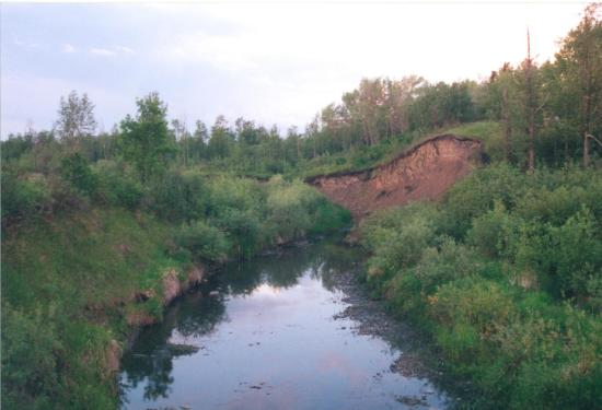 Grande Prairie, Kanada: Water features along the trail