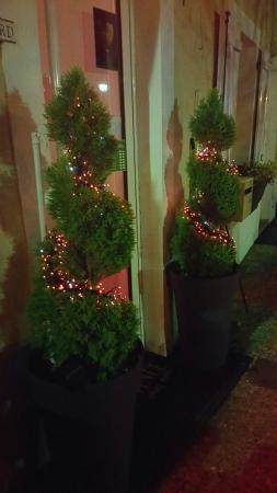 Le bienvenu décoré pour Noël