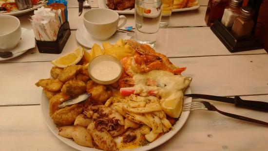 Catch of the day: Seafood platter