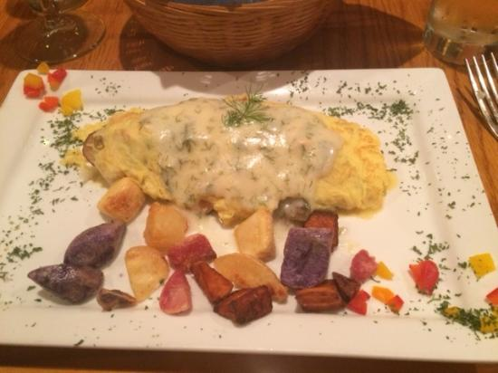 The Vine: Salmon omelet