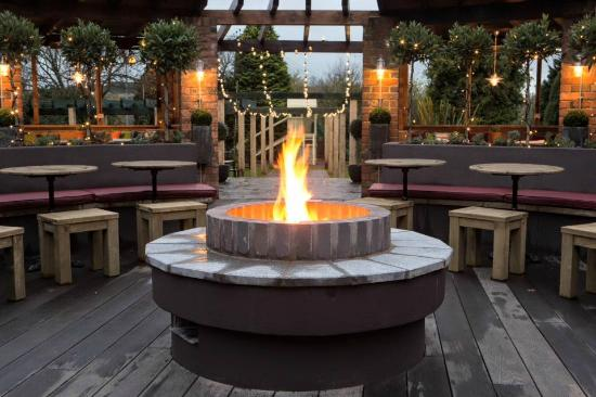 Superb The Manor House Of Whittington: The Garden Fire Pit