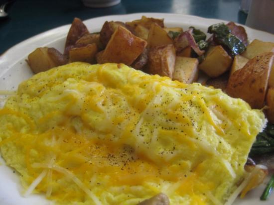 keene cafe: Spinach & Mushroom Omelet