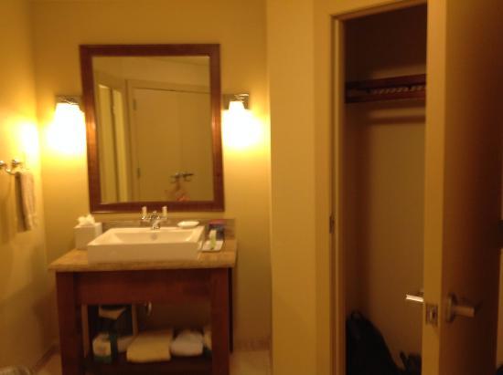 Bedroom bathroom and closet