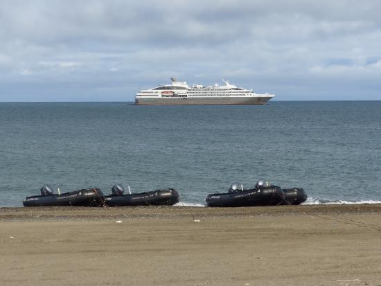 French Cruise Ship At Barrow Alaska  Picture Of Top Of