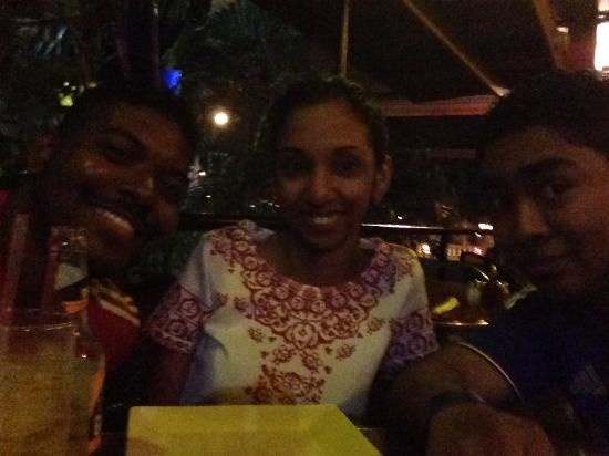 Family night out in La Cantina, Tobago