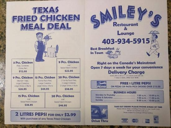 Strathmore, Canadá: Smileys Family  Restraunt