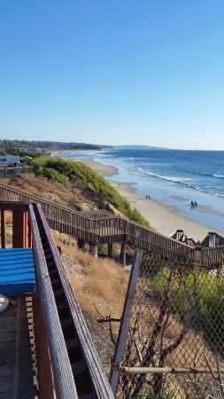 San Elijo State Beach Campground: Top of stairs from general store