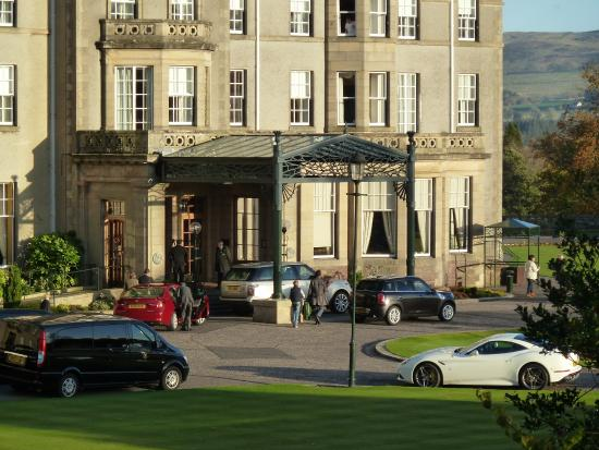 Gleneagles: Front of hotel viewed from room