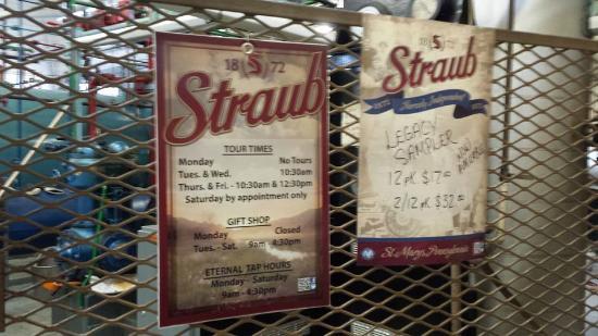 Straub Brewery: info