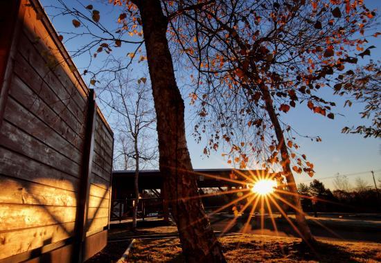 Yuni-cho, Giappone: Autumn scene at hotel