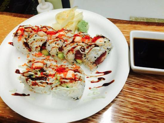 Hapa roll picture of makai sushi koloa tripadvisor for Asian cuisine kauai