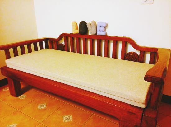 A Qian B & B : 房間裡的貴妃椅