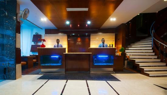 Hotel Aura: Reception area