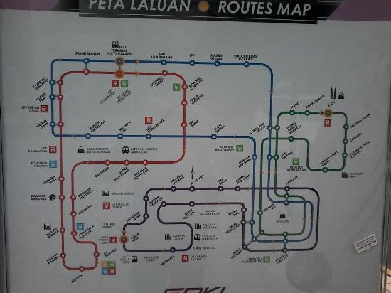peta rute bus Go KL Picture of GO KL City Bus Kuala Lumpur