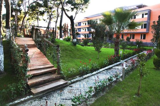 Lushnje, ألبانيا: Divjaka Resort garden