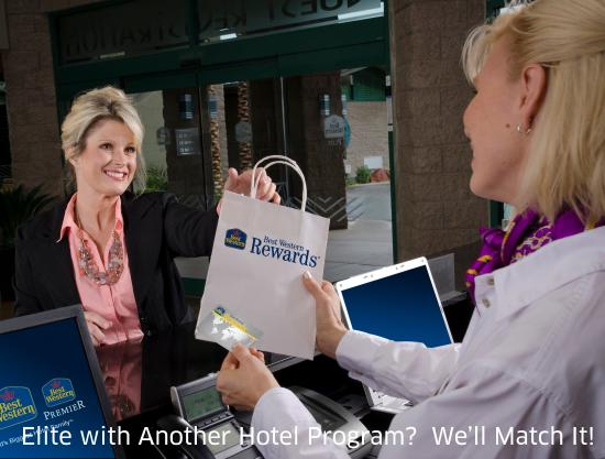 Best Western Beacon Inn: Status Match….No Catch