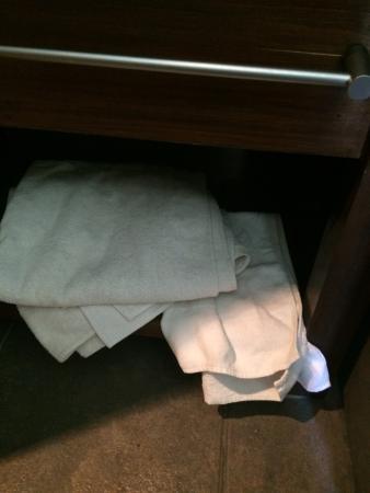 arrumação de toalhas