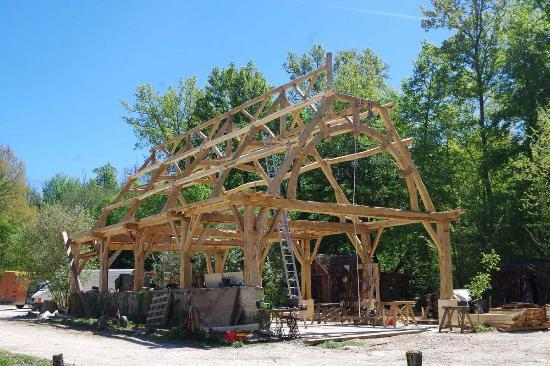 Richfield Springs, NY: Post and beam frame we built.