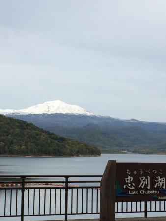 Higashikawa-cho, Japón: 忠別ダム湖からの旭岳