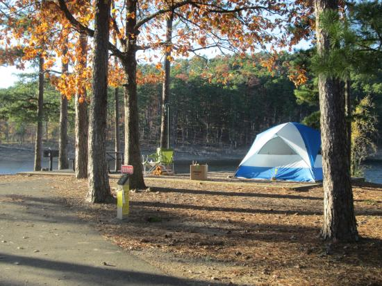 Lake Ouachita State Park walk in tent